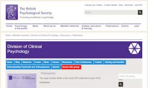 The British Psychological Society - Division of Clinical Psychology