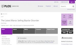 The Latest Mania - Selling Bipolar Disorder