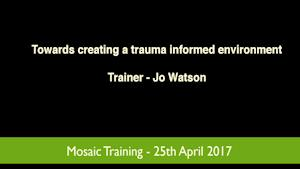 Towards creating a trauma informed environment
