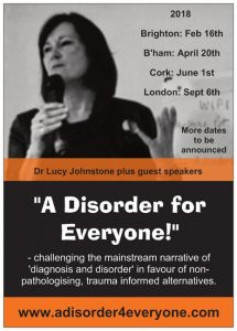 A Disorder For Everyone (flyer) - 2018 events