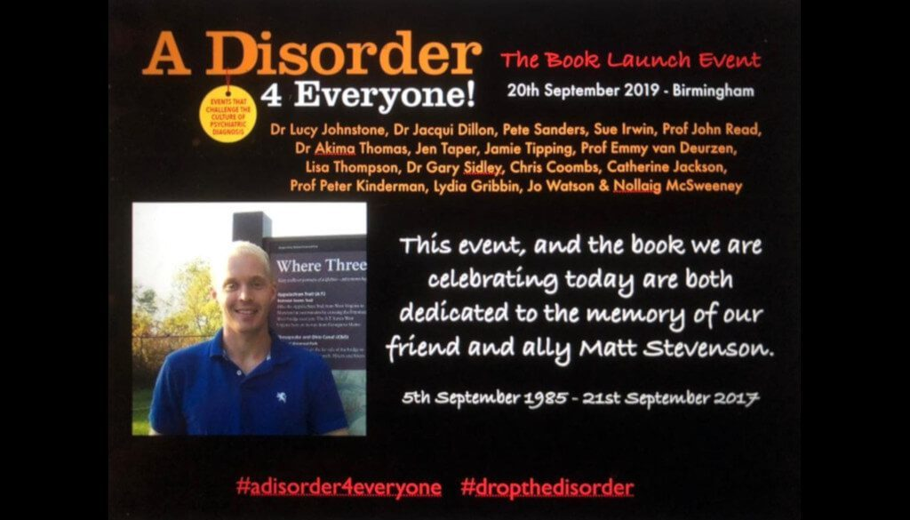 Book Launch Event Drop The Disorder